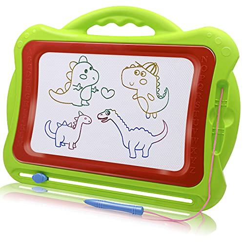 Magnetic Drawing Board for Toddlers, Large Erasable Doodle Board Writing Painting Sketch Pad Creative Educational Toys for Kids Boys Girls