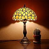 Yilingqi-1 Fünfblättrigen Blumen Tiffany-Stil Glasmalerei Tischlampe pastoralen Handwerk stilvolle Schlafzimmer Nachttischlampe 30 * 50 cm