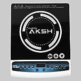 SURYA AKSH Jiio-001 Induction Cooktop 2000 WATTS (Black & White)
