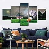 NC56 Modulare Bilder Wandkunst Leinwand Badminton Poster