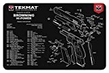 TekMat Tapis pour Le Nettoyage avec Eclaté Browning Hi Power (HP35) - 43x28cm