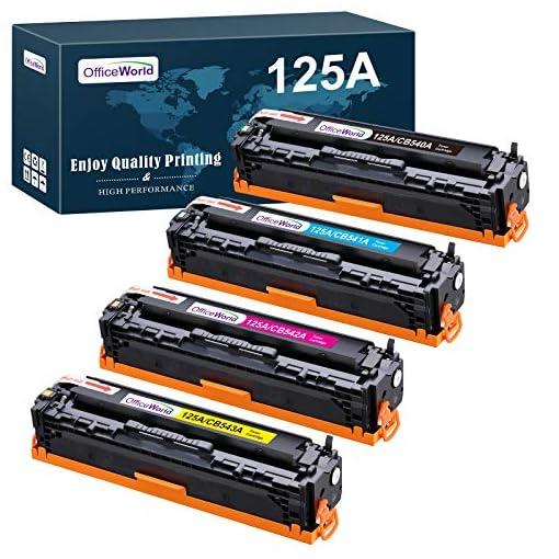 OFFICEWORLD Compatible HP 125A CB540A CB541A CB542A CB543A Toner Cartuchos para HP Color LaserJet CM1312 CM1312n… 1