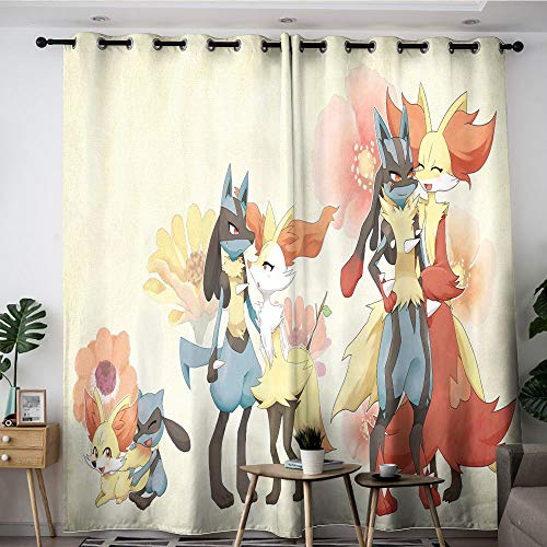 Elliot Dorothy pokemon Pikachu cartoon Customized curtains Customized Chid Curtains Blackout Window Curtain for kids room,baby room W42 x L54