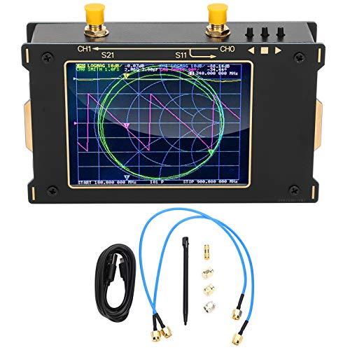 NanoVNA-V2ベクトルネットワークアナライザ 定在波とアンテナ インピーダンスをテストするため スペクトラムアナライザ アンテナアナライザ アルミニウム合金 50kHz‑3GHz