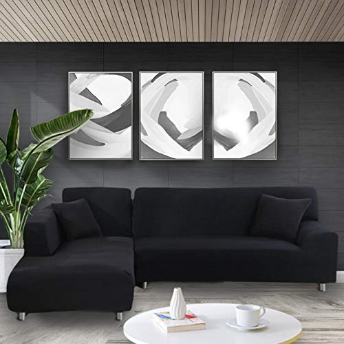 WXQY Funda elástica Blanca para sofá Funda elástica Ajustada Funda para sofá de la Sala de Estar Todo Incluido Funda de sofá antiincrustante Funda de sofá para Silla A5 4 plazas