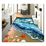 "ZaH Thin 3D Area Rug Non-Slip Doormat Carpet Printing Rug for Living Room, Bedroom, Kitchen, Bathroom (5x7-63""x90.6"", Wave)"