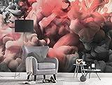 Wall Art - Póster de pared con cámara lenta, color rosa, tamaño XXL, con efecto 3D, 3,50 m x 2,55 m