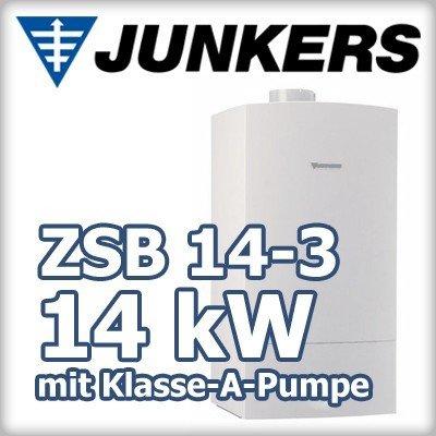 Junkers CerapurEco ZSB 14-3 E 23 Gasbrennwertthermet mit Energiesparpumpe