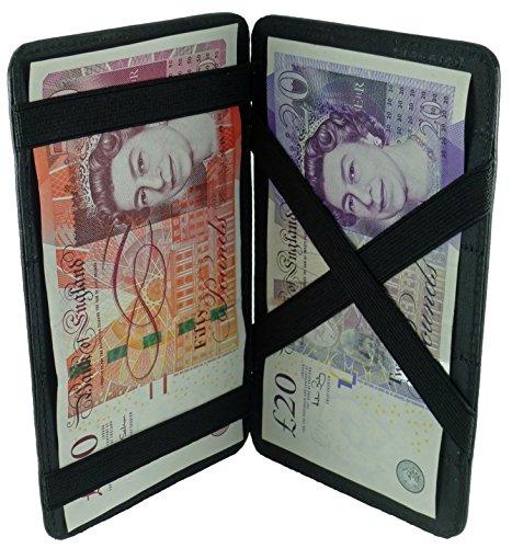 Quality Soft Cowhide Leather Magic Flip Milkman/Puzzle Money Wall