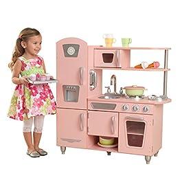 KidKraft 53179 Cucina Giocattolo in Legno per Bambini Vintage con Telefonino Incluso, Rosa