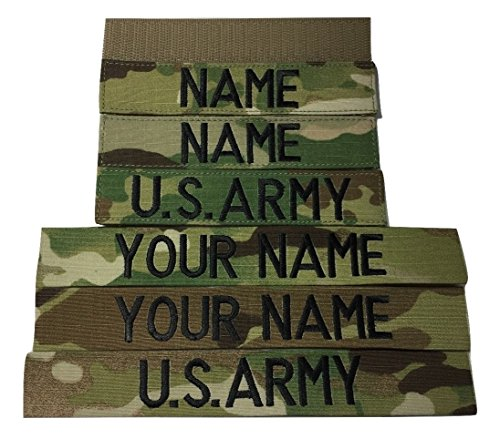 3 pieces MULTICAM/OCP Name Tape & US Army Tape (with Fastener)