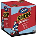 "Scott Shop Towels Original (75190), Blue, Pop-Up Dispenser Box, 10"" x 12"", 200 Sheets / Box, 8 Boxes / Case, 1,600 Towels / Case"
