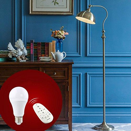 Staande lamp vloerlamp woonkamer slaapkamer nachtkastje lamp vissen lamp afstandsbediening LED