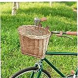 Cesta de bicicleta, bicicletas Rattan Basket, multifunción extraíble impermeable manillar de la bici Cesta para Niños Niños Niñas bicicletas