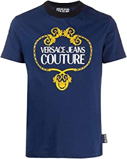 Jeans Couture Men's Slim Baroque Stamp Logo Shirt Blue