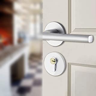 Picaporte para puerta de interior aluminio Blanco color blanco mate Gedotec PUSH 1317