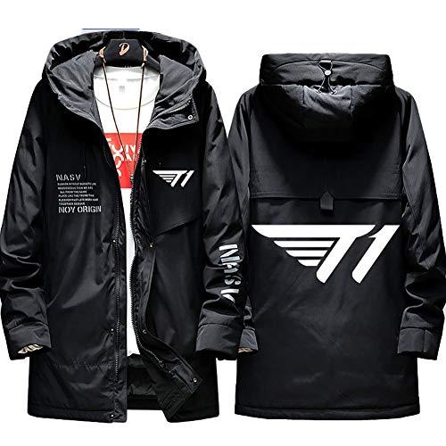 73HA73 Herren Warme Winterjacke LOL League of Legends SKTelecom T1 E-Sport Jacke Kapuzen Full Zip Coat Hoodie Komfortable Übergangsjacke Sweatshirt Jacken (No Shirt),Black,M(165-175cm)