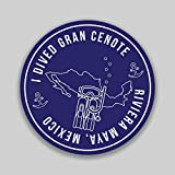 Gran Cenote Mexico Adventure Wanderlust Scuba Diving Snorkeling Swimming Camping Fishing Sticker 2-Pack 4 Inch Round Premium Quality Vinyl UV Protective Laminate PD2030