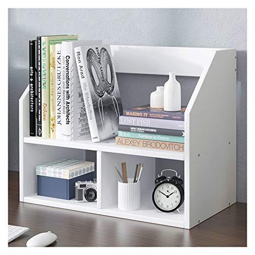 Librero Doble Capa de escritorio Estantería de oficina de madera estante de exhibición de escritorio del organizador del almacenaje del estante Oficina Suministros de oficina Biblioteca encimera Estan