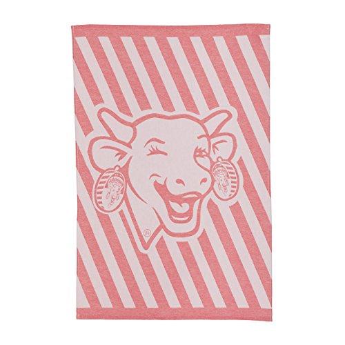 COUCKE - aus französischer Baumwolle Jacquard Handtuch 20 x 30-inches Vache Qui Rit Urban Rouge