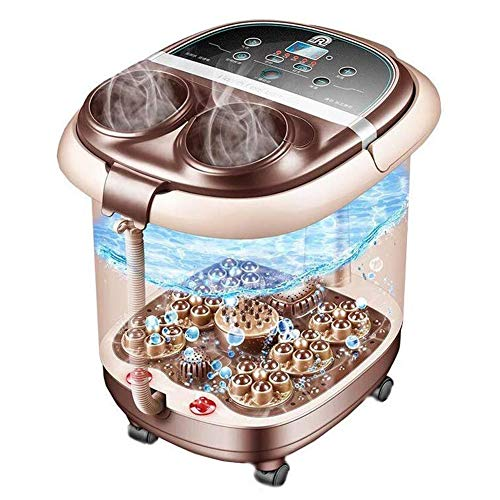 Find Bargain CHENJIU Heated Automatic Foot Spa Massagers Water Bubble, Heated Foot Massage Machine R...