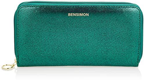 Bensimon Zipped Wallet, Partito Luminoso Donna, Vert, TU