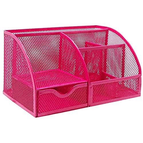 Lata de bolígrafo portalápices estuche de viaje estuche de metal portalápices rosa bolsa de primavera maceta flor de cuero portalápices estuche de lápices para niños