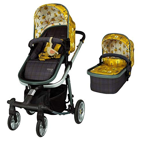 Cosatto Giggle Quad Pram & Pushchair – From Birth to 20kg, Lightweight, Compact Fold, Duo-directional Seat (Spot The Birdie)