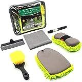 Konpard Car Wash Kit - 5Pcs Car Cleaning Tools Kit with Tool Box Car Wash Mitt Wash Sponge Tire...