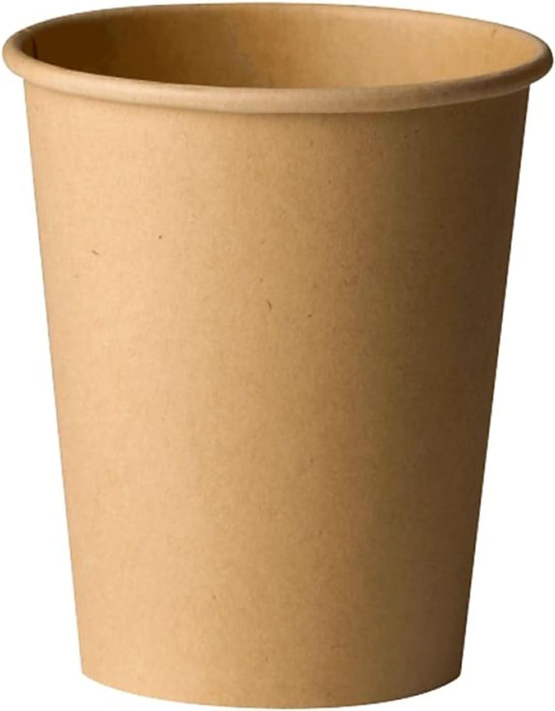 50 Vasos Desechables de Café para Llevar - Vasos de Cartón Kraft de 240ml Biodegradables Tazas de Te para Bebidad Frias y Calientes Compatible con Cafeteras Nespresso y Dolce Gusto