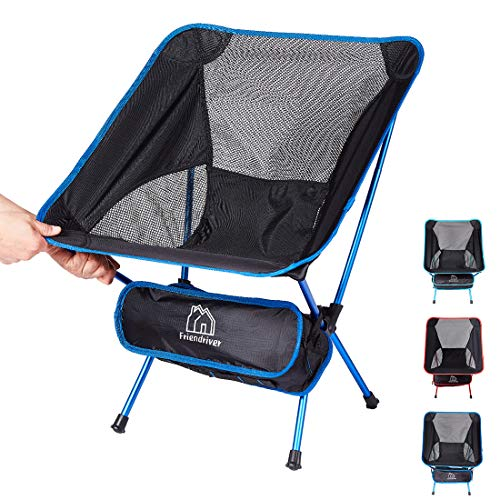 Friendriver Portable Folding Camping Chair, Compact and Lightweight Outdoor Chair, Suitable for...