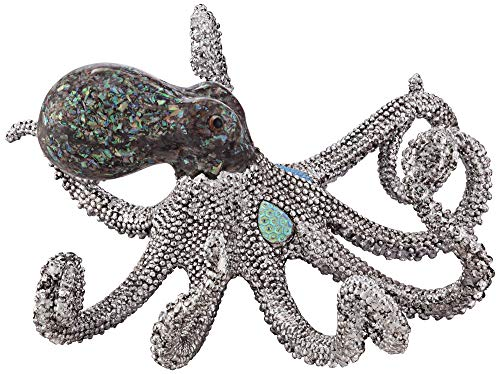 """Studio 55D Ocean Deep 10"""" Wide Silver Luxe Octopus Figurine"""