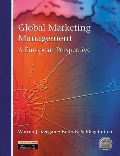 Global Marketing Management: A European Perspective by Dr Bodo Schlegelmilch (6-Dec-2000) Paperback