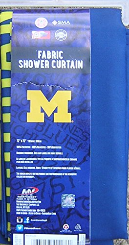 The Northwest Company NCAA Michigan Wolverines Shower Curtain