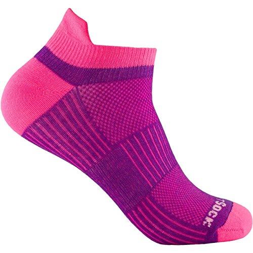 Wrightsock Coolmesh II Low Tab Socke, Plum/pink