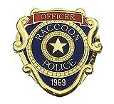 Super6props Resident Evil 2 Remake Waschbär City Police Officer Disfraz de metal con pin vertical (66 x 63 mm)