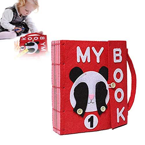 XIANGBAO DIY Libro Quiet Fieltro Libros de bebé temprano del Desarrollo cognitivo Juguetes Hechos a Mano Libro Educativo para el Cabrito del paño del bebé Libro