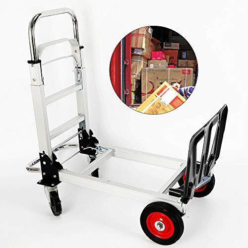 Carretilla de mano de aleación de aluminio Carretilla de plataforma plegable Carretilla de mano plegable para la industria de compras 200 kg