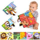 Comius Sharp 2 Pièces Livre Tissu Bébé Livres en Tissu Doux pour Bébés Livres D'éveil Livre D'éveil Bébé Livres en Tissu Doux Lavable Educatif en Tissu Jouets pour Enfants