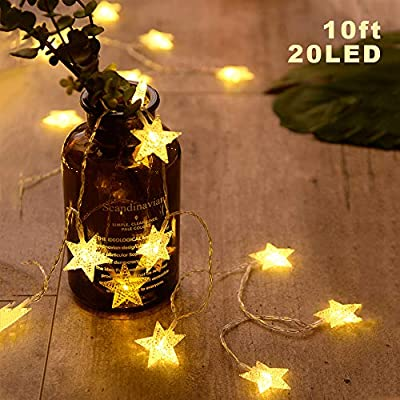 ANJAYLIA 2 Pack Fairy String Lights Battery Operated