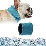 Kühlhalsband für Hunde, Hundehalsband Kühlend, Kühlende Halstuch Hund, Hunde Bandana Kühlend, Kühlendes Hundehalsband, Kopftücher Kühlend Hund, Sommer Pet Instant Cooling Schal (S)