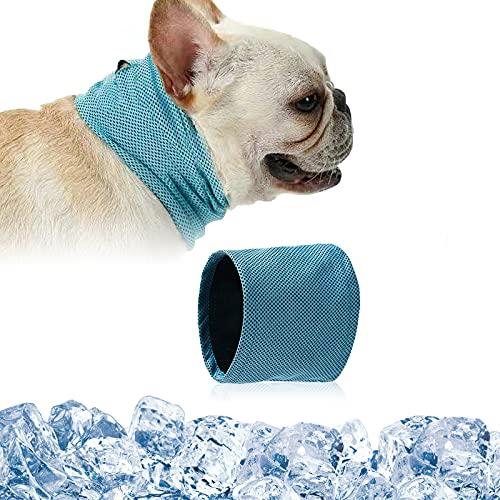 Kühlhalsband für Hunde, Hundehalsband Kühlend, Kühlende Halstuch Hund, Hunde Bandana Kühlend, Kühlendes Hundehalsband, Kopftücher Kühlend Hund, Sommer Pet Instant Cooling Schal (L)