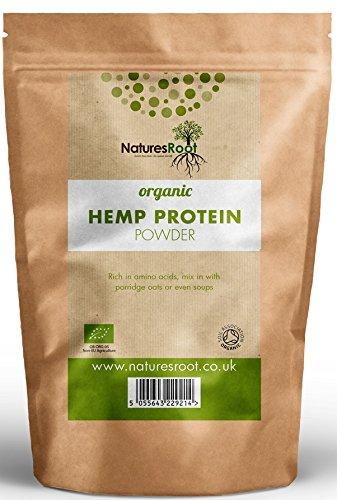 Radice delle nature Polvere Proteina Canapa Biologica 500g - No OGM | Pressata a Freddo | Senza Glutine | Vegano