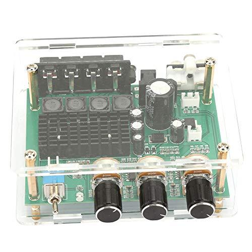 Shexton Placa amplificadora de Potencia, AC12-17V/DC 12-24V módulo AMP 80W * 2 Placa amplificadora de Audio Digital de Doble Canal