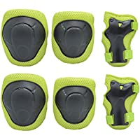 6-Pack Kids Knee Pads/Elbow Pads/Wrist Guards Protective Gear Set