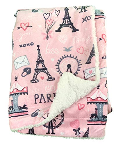 Paris Design Blissfully Soft Couverture en fourrure de nouveau-né pour bébé – Idéal pour le voyage (siège auto), landau/poussette, berceau, couffin (rose)