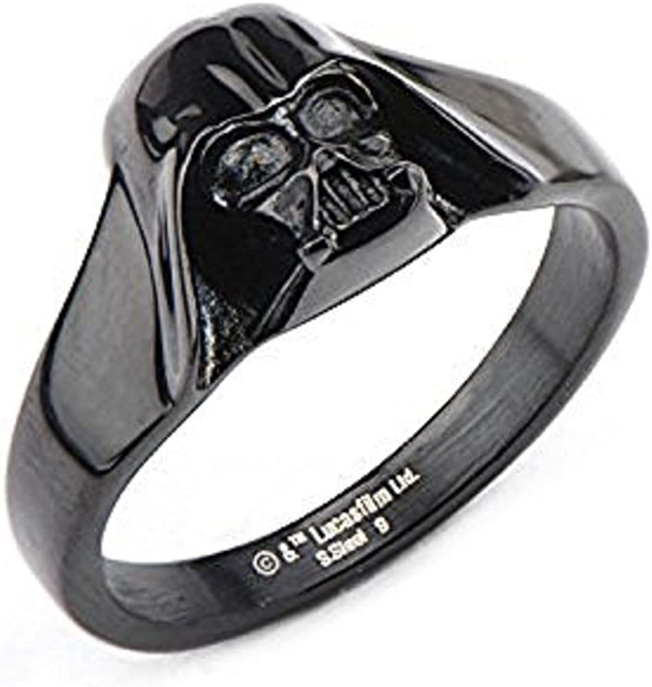 Disney Women's Stainless Max 87% OFF Steel Black Super beauty product restock quality top IP Darth Vader Star Wars 3D