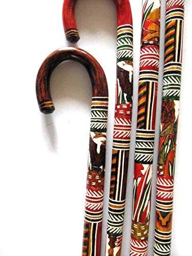 Walking Canes Walking Sticks... Mexican Mayan/Aztec Designs - ONE Cane