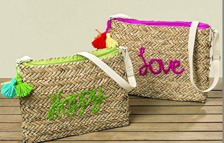 Boltze Borsa Colorata da Spiaggia con Scritta Happy