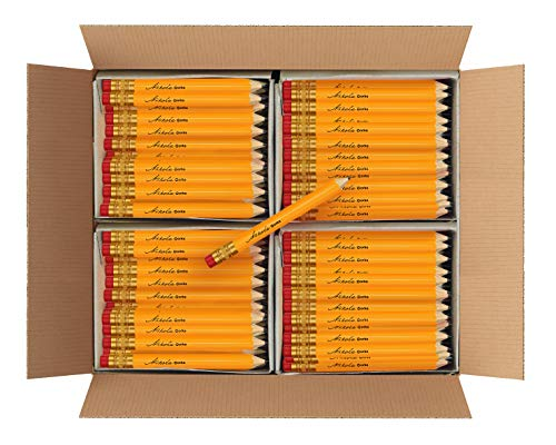 Nikola Works Classic American Standard #2 HB Mini Golf Pre-Sharpened Pew Pencils With Erasers Hex Shaped Bulk 384 Count